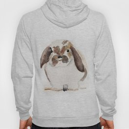 Bunny Watercolor (Flop Eared Bunny) Hoody