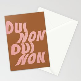 Abstraction_OUI_NON_YES_NO_TYPE_POP_ART_0112A Stationery Cards