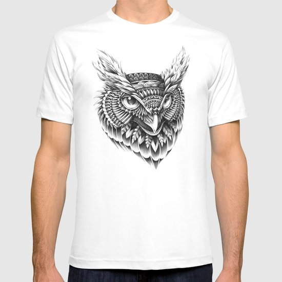 Ornate Owl Head T-shirt