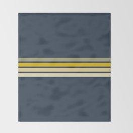 Racing Retro Stripes Throw Blanket
