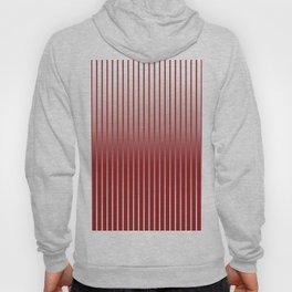 Red Variegated Reverse Stripe Vertical Hoody