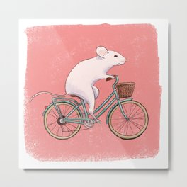 The Cyclist Metal Print