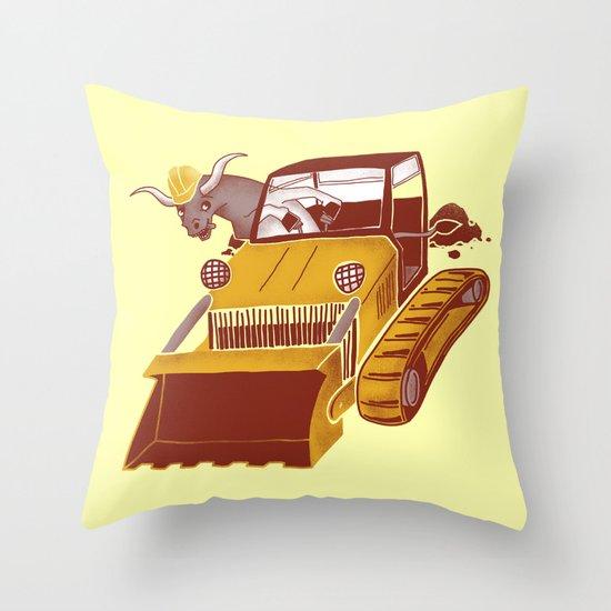 Bulldozin'  Throw Pillow