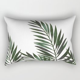 Palm Leaves Green Rectangular Pillow