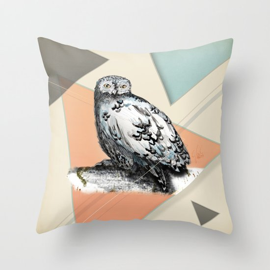 Owl McSit by carographic Throw Pillow