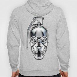 Skull grenade silver Hoody