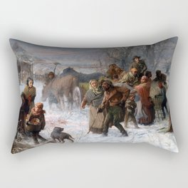 Charles T. Webber The Underground Railroad Rectangular Pillow