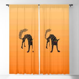 Black Cat 01 Blackout Curtain