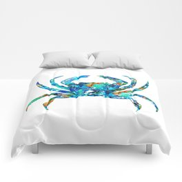 Blue Crab Art by Sharon Cummings Comforters