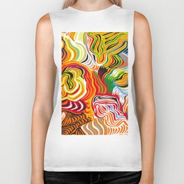 colored flow Biker Tank