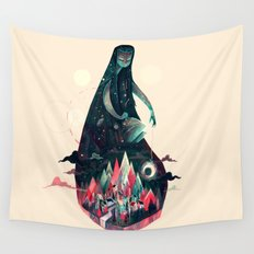 Night Time. Wall Tapestry