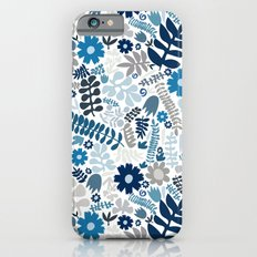 blue and natural wildflowers iPhone 6s Slim Case