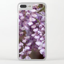 Spring - Wisteria Clear iPhone Case
