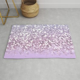 Faux Sparkly Pastel Unicorn Ombre Rug