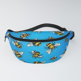 All Da Bees (mini) - Blue Fanny Pack