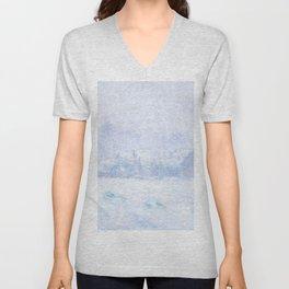 """Claude Monet """"Effet de neige à Giverny"""" Unisex V-Neck"""