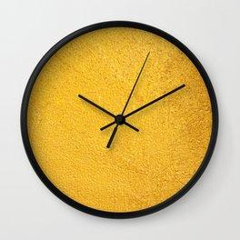 Yellow background Wall Clock