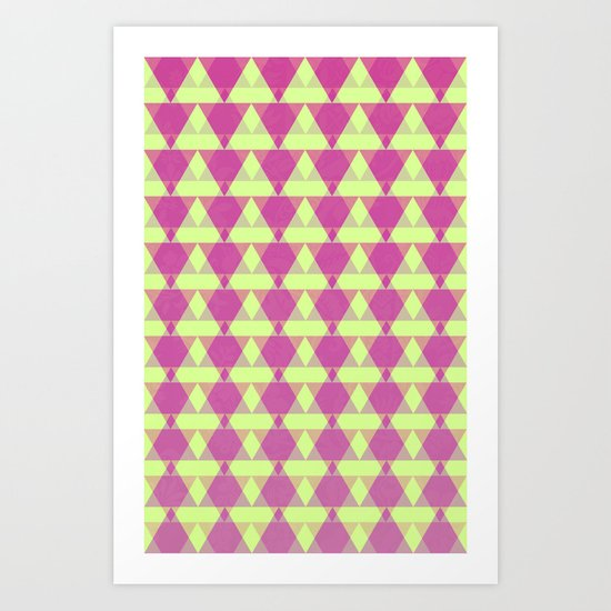 Triangles #2 Art Print