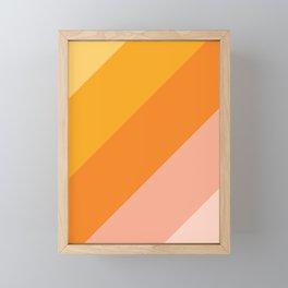 Tropical sunrise gradient Framed Mini Art Print