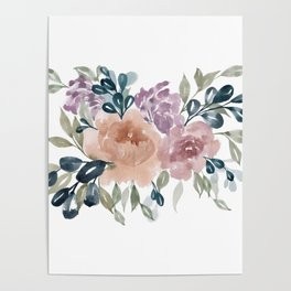 Fall Flowers + Leaves Poster