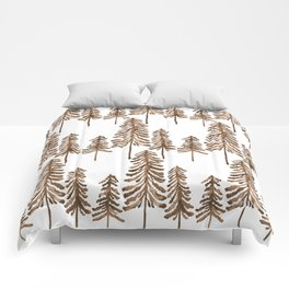 Pine Trees – Sepia Palette Comforters