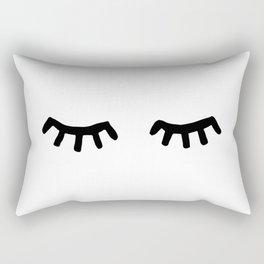 Tired Eyes Rectangular Pillow