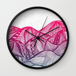 Lines in the mountains 05 Wall Clock