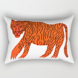 Mighty Orange Tiger Rectangular Pillow