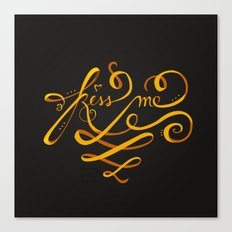 Kiss Me Typo Canvas Print