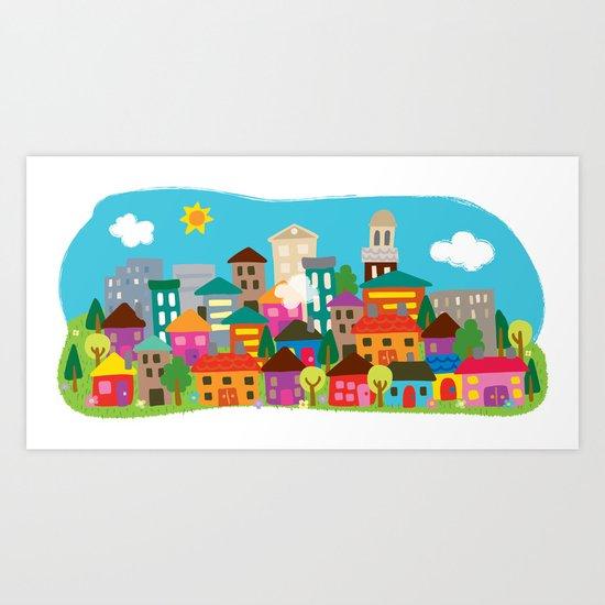 happytown Art Print
