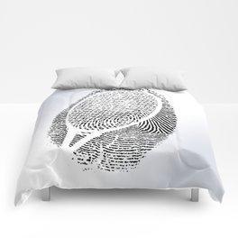 Fingerprint of a player Comforters