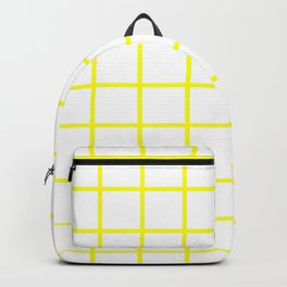 GRID DESIGN (YELLOW-WHITE) Backpack