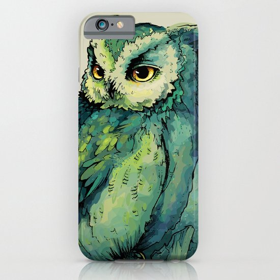 Green Owl iPhone & iPod Case