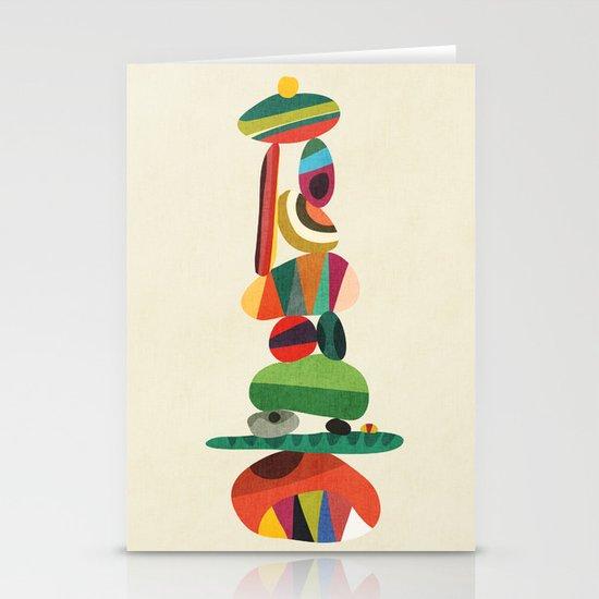 Totem - balanced pebbles Stationery Cards