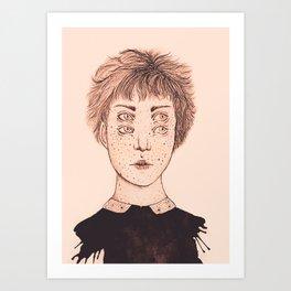 Mrs Foureyes Art Print