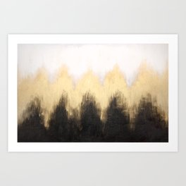 Metallic Abstract Art Print