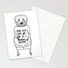 I Became Useless... Stationery Cards