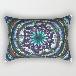 Blue halo Rectangular Pillow