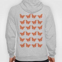 Coral Bold Mod Butterflies Hoody