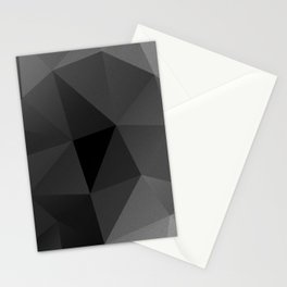 Black and white metric polygon pattern Stationery Cards
