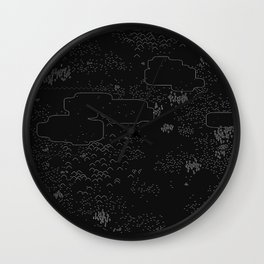 land of 15 towns and a cemetary · negative ⎌ Wall Clock