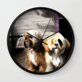 Afternoon Sentries Wall Clock