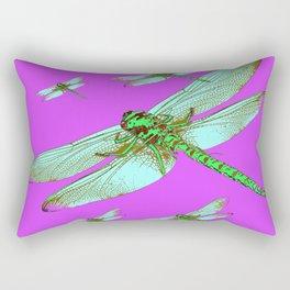 PANTENE ULTRA VIOLET PURPLE EMERALD DRAGONFLIES ART Rectangular Pillow