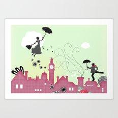 Mary Poppins-London Art Print