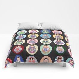 cute doll babushka matryoshka Comforters
