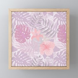 My Pink Abstract Aloha Flower Jungle Garden Framed Mini Art Print