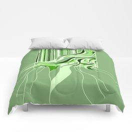 Swell Green Monochrome Comforters