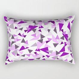 Triangel Purple pink Graphic Design Rectangular Pillow