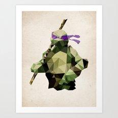 Polygon Heroes - Donatello Art Print