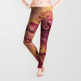 fluid golden raspberry Leggings